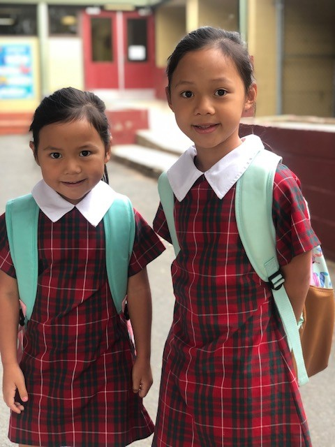 children ready to start the school day