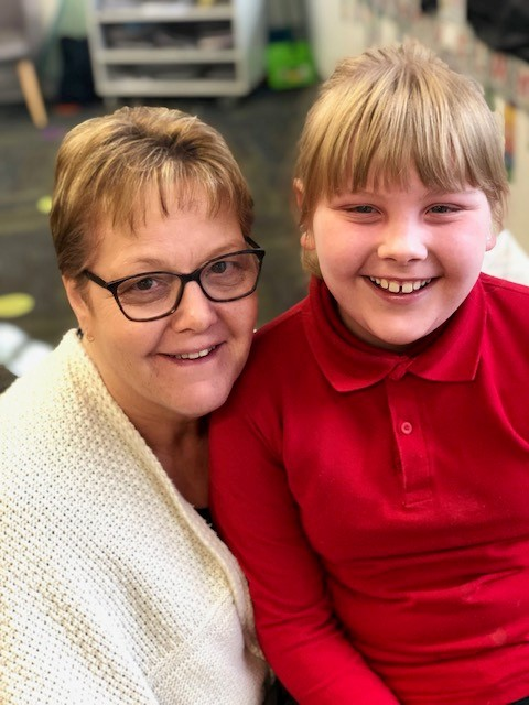 A photo of Sienna in Year 3 with her Grandma
