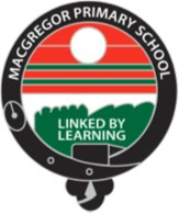A photo of the school's logo