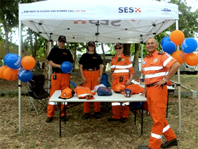 SES volunteers at the fete