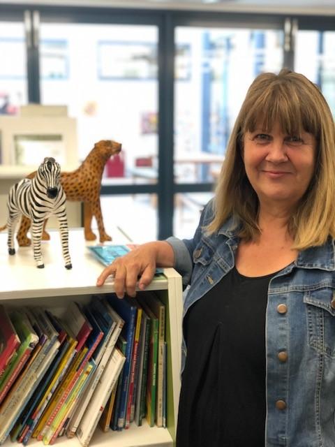 A photo of Macgregor's teacher librarian